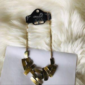 Wilphen Fashion Statement Gold Tone Neckless